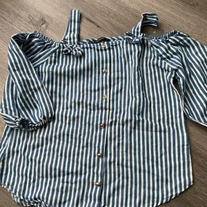 Striped blouse blue and white size s